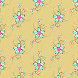 Flower Pattern 2. Flower Pattern On Background vector Stock Image