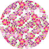Flower pattern. Beautiful pattern consisting of different florets Stock Image