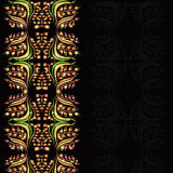 Flower pattern black luxury background Royalty Free Stock Photos