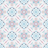Flower Pattern Blue Background Boho. Abstact flower pattern. Seamless boho design element. Vector blue background. Intricate ornament. Unusual texture Vector Illustration