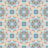 Flower Pattern Blue Yellow Weave Elements Royalty Free Stock Photo