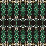 Flower pattern from brilliant stones silk scarf. Royalty Free Stock Photo