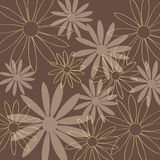 Flower pattern brown background Stock Photo