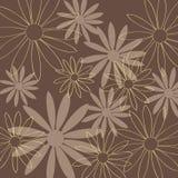 Flower pattern brown background Stock Photo