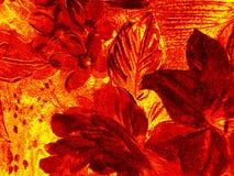 Flower pattern: burning. Flowered textile background stock image