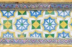 Flower pattern of ceramic tile Royalty Free Stock Images