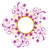 Flower pattern and circle Stock Images