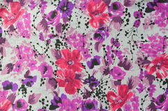 Flower pattern cloth fabric. Royalty Free Stock Photo