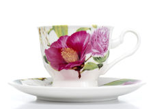 Flower Pattern Coffee Cup Royalty Free Stock Photo