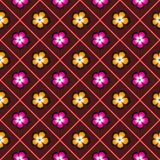 Flower pattern. Color flower pattern for ptinting on paper, textile, cloth Stock Image