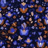 Flower pattern on a dark background Royalty Free Stock Photos