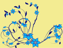 Flower pattern decoratively. Romantically abstraction illustration Royalty Free Stock Photos