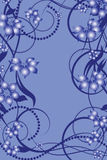 Flower pattern decoratively. Romantically abstraction illustration Stock Image