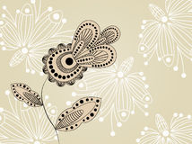Flower pattern decoratively. Romantically abstraction illustration Stock Photography