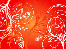 Flower pattern decoratively. Romantically abstraction illustration Stock Images