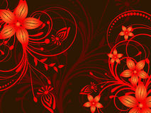 Flower pattern decoratively. Romantically abstraction illustration Royalty Free Stock Photo
