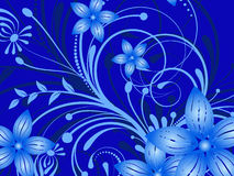 Flower pattern decoratively. Romantically abstraction illustration Royalty Free Stock Photography