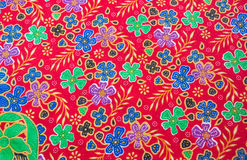 Flower pattern on the fabric Stock Photo