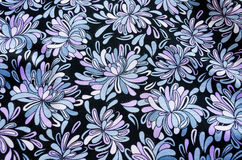 Flower pattern on the fabric Royalty Free Stock Photo
