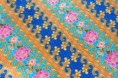Flower pattern on the fabric Royalty Free Stock Photos