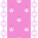The flower pattern. Flowers on a pink background with a pattern Royalty Free Stock Photos