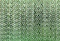 Flower pattern glass Royalty Free Stock Photo
