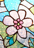 Flower pattern on the glass Stock Image