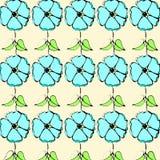 Flower pattern. Graphic illustration of flower pattern Royalty Free Stock Photo