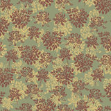 Flower pattern green Stock Photos