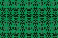 Flower Pattern with Green Background. Petals Design spread over clear background. Use Articles, Printing, Illustration, background. Website, businesses vector illustration