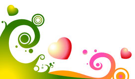 Flower pattern and heart Stock Photography