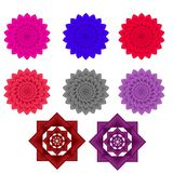 Flower Pattern illustration with multi color Royalty Free Stock Image