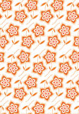 Flower Pattern. With illustration style design Royalty Free Stock Photos