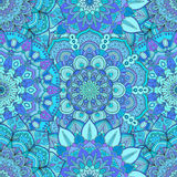 Flower Pattern Intricate Blue Royalty Free Stock Photo