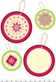 Flower pattern label Royalty Free Stock Images