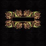 Flower pattern luxury black background banner Stock Image