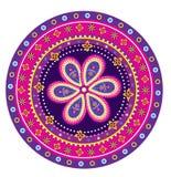 Flower pattern mandala. Colourful Flower pattern mandala illustration graphic design Royalty Free Stock Photos
