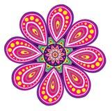 Flower pattern mandala Stock Images