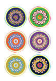Flower pattern mandala stock illustration