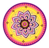 Flower pattern mandala Royalty Free Stock Photography