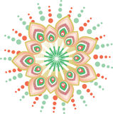 Flower pattern mandala Royalty Free Stock Images