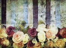 Flower pattern on old colorful zinc vector illustration
