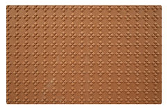 Flower pattern on old plywood skin Stock Images