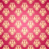 Flower pattern in old style with a flourish Royalty Free Stock Photography