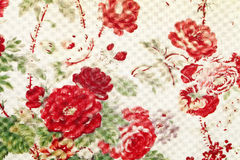 Flower pattern paper. Close up of flower pattern paper Stock Photos
