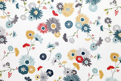 Flower pattern paper. Close up of flower pattern paper Stock Photography