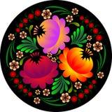 Flower pattern in petrikovsky style. Original flower pattern in petrikovsky style stock illustration