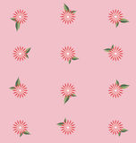 Flower Pattern pink background Stock Photo