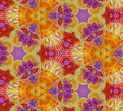 Flower pattern from plasticine royalty free stock images