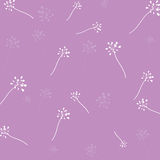 Flower pattern purple background Royalty Free Stock Image